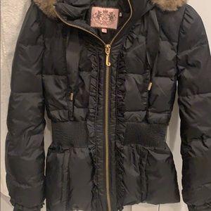 Super cute perfect condition black juicy jacket, S